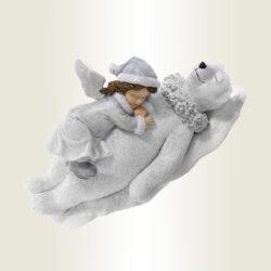 Αγγελάκι με αρκουδίτσα, μήκους 19cm