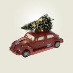 Αυτοκινητάκι με δέντρο και φωτάκι led, μήκους 14cm