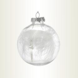 Μπάλα διάφανη με φτερό, διαμέτρου 10cm