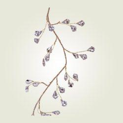 Γιρλάντα διακοσμητική με διαμαντάκια, μήκους 145cm