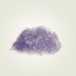 Σαντρέ Angel Hair χρώματος Λιλά, για συνθέσεις