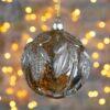 Μπάλα γυάλινη με φυτόμορφα μοτίβα, 10cm