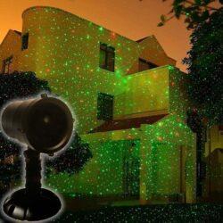 Προτζέκτορας laser με αστεράκια, πρόγραμμα και τηλεκοντρόλ