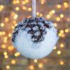 Μπάλα κουκουνάρι, χιονισμένη, διαμέτρου 10cm