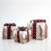 Κουτιά δώρου με κορδέλα, φωτιζόμενα, ύψους 15, 20 & 25cm