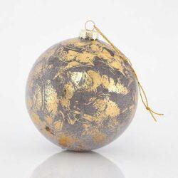 Μπάλα χρυσή κρακελέ, 10cm