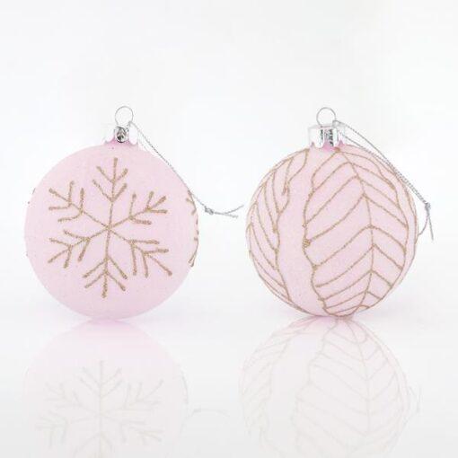 Μπάλα ροζ - γυάλινη, 8cm