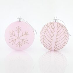 Μπάλα ροζ - γυάλινη, 10cm