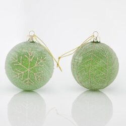 Μπάλα πράσινη - γυάλινη, 8cm