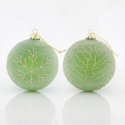 Μπάλα πράσινη - γυάλινη, 10cm