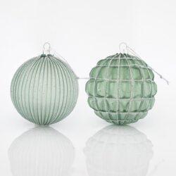 Μπάλα γυάλινη λαδί, 10cm