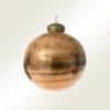 Μπάλα γυάλινη καφέ γυαλιστερή, 8cm