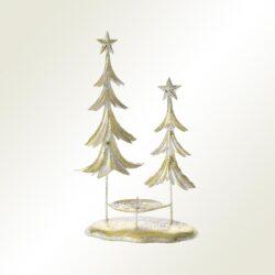 Κηροπήγιο χρυσό με δέντρα, ύψους 33cm