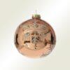 Μπάλα γυάλινη μπρονζέ με νιφάδα, 10cm