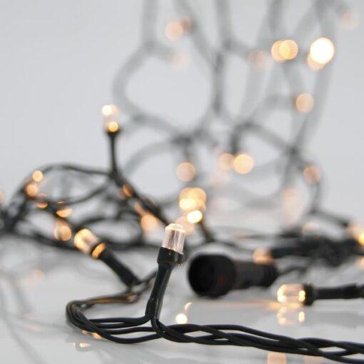 100 LED Διαμαντάκι Θερμά Λευκά με επέκταση