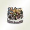 Χριστουγεννιάτικο χωριουδάκι με φως, μουσική και κίνηση, μήκους 23cm