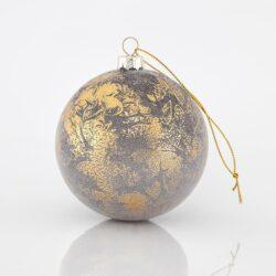 Μπάλα χρυσή κρακελέ, 8cm