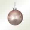 """Μπάλα γυάλινη ροζ, """"Merry Christmas"""", διαμέτρου 8cm"""