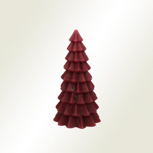 Κερί χριστουγεννιάτικο δέντρο µπορντώ, ύψους 20cm