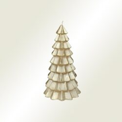 Κερί χριστουγεννιάτικο δέντρο χρυσό, ύψους 20cm