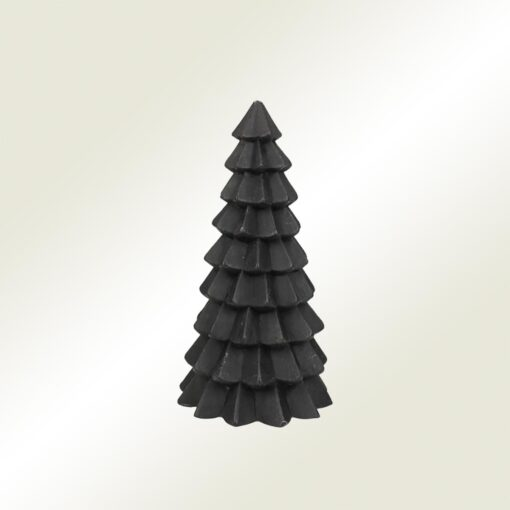 Κερί χριστουγεννιάτικο δέντρο μαύρο, ύψους 20cm