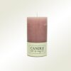 Κερί κορμός σαγρέ ροζ, ύψους 13cm
