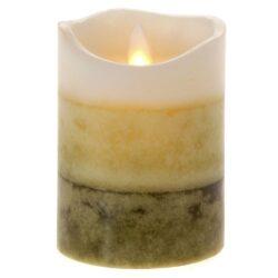 Κερί Led τρίχρωμο 12.5cm.