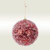 Μπάλα κόκκινη με χιόνι, 10cm